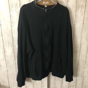 Black Mens Zip Up Sweatshirt 3XT